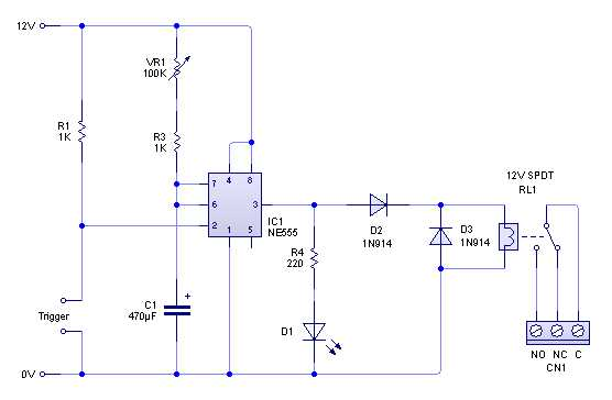 Relay Timer Circuit on midi circuit diagram